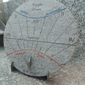 Sundial with support