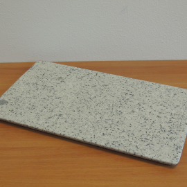Serving plate in polished white Montorfano granite